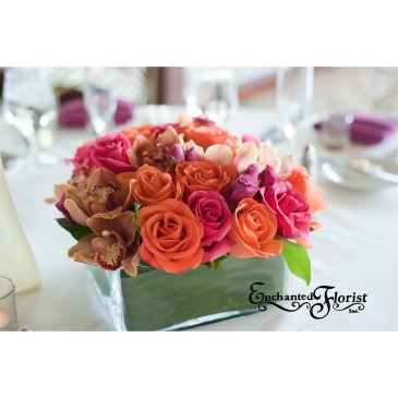 Enchanted Florist Las Vegas Rose and Orchid Centerpiece
