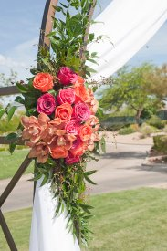 Enchanted Florist Las Vegas Rose and Orchid Love Arch (2)