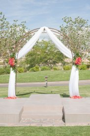 Enchanted Florist Las Vegas Rose and Orchid Love Arch 3