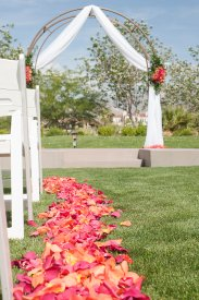 Enchanted Florist Las Vegas Rose and Orchid Love Arch