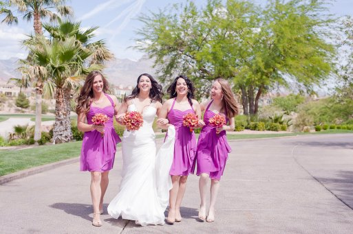 Enchanted Florist Las Vegas Rose and Orchid Love Bridal Party