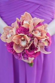 Enchanted Florist Las Vegas Rose and Orchid Love Bridesmaid Bouquet 2