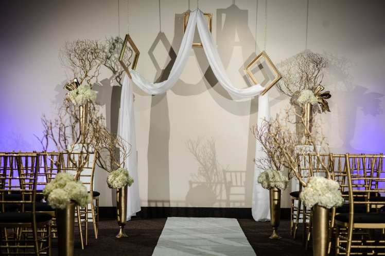 white gold arch