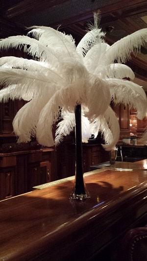 feather centerpiece | Vintage Wedding | 1920's wedding