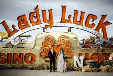 Wedding at the Neon Museum | Neon Museum Las Vegas Wedding