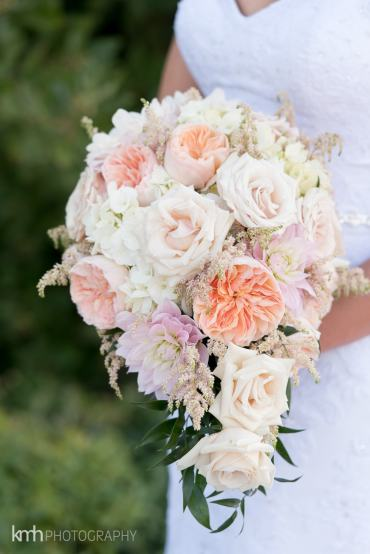 Blush Pink Cascade Bridal Bouquet